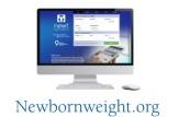 newbornweight.org website on computer screen